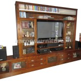 <center><b>TV WALL UNIT</b></br>Rustic Tasmanian Oak