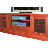<center><b>CAPRI Lowline</b></br>Jarrah</br>1800 wide</br>with drawer and doors