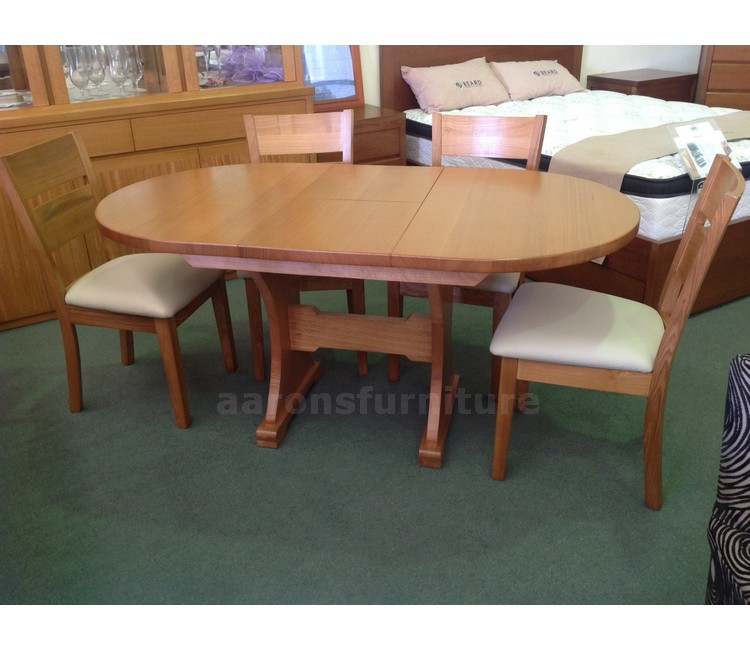 Aarons Furniture Dining Tables Benchwright Extending Table And Set Of 6 Aaron Chairs Medium