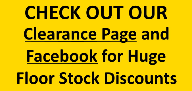 Clearance page banner for website